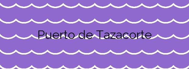 Información de la Playa Puerto de Tazacorte en Tazacorte
