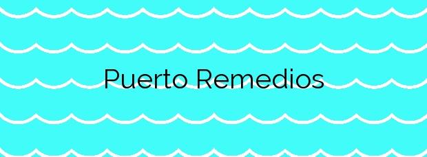 Información de la Playa Puerto Remedios en La Oliva