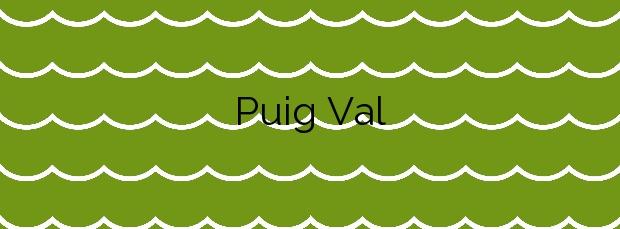 Información de la Playa Puig Val en Puig de Santa Maria, el