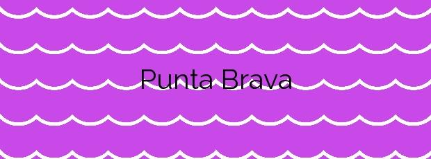Información de la Playa Punta Brava en Cartagena