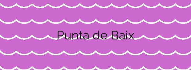 Información de la Playa Punta de Baix en Eivissa