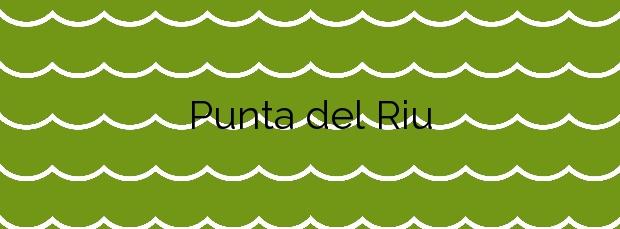 Información de la Playa Punta del Riu en Vandellòs i l'Hospitalet de l'Infant