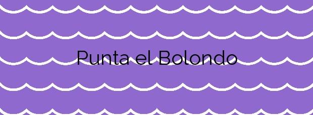 Información de la Playa Punta el Bolondo en San Javier