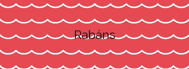 Información de la Playa Rabáns en Cangas
