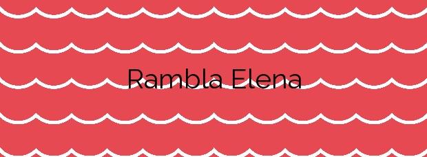 Información de la Playa Rambla Elena en Águilas