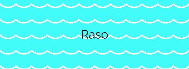 Información de la Playa Raso en Ares