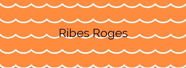 Información de la Playa Ribes Roges en Vilanova i la Geltrú