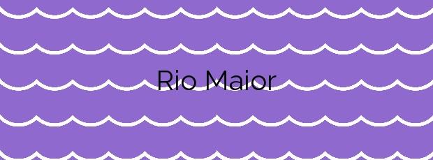 Información de la Playa Rio Maior en Porto do Son