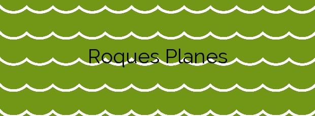 Información de la Playa Roques Planes en Calonge