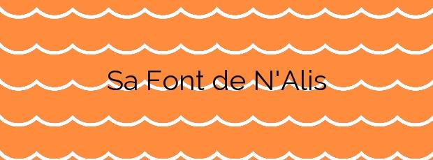 Información de la Playa Sa Font de N'Alis en Santanyí