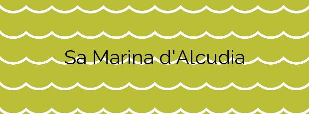 Información de la Playa Sa Marina d'Alcudia en Alcúdia