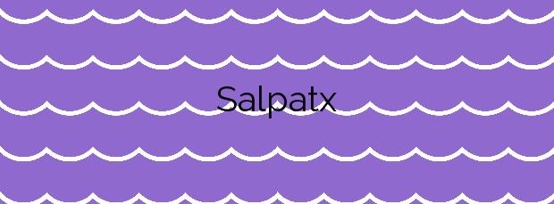 Información de la Playa Salpatx en L'Escala