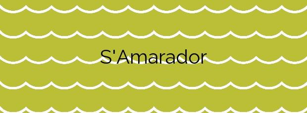 Información de la Playa S'Amarador en Santanyí