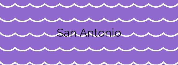 Información de la Playa San Antonio en Sant Antoni de Portmany