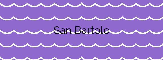 Información de la Playa San Bartolo en Barreiros