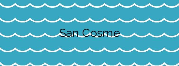 Información de la Playa San Cosme en Barreiros