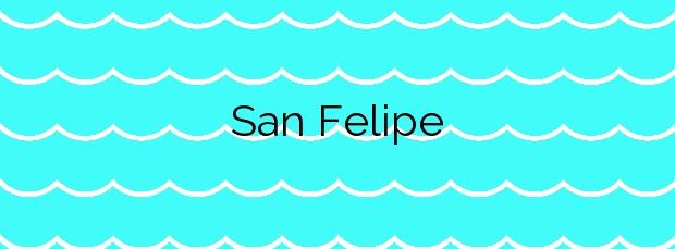Información de la Playa San Felipe en Santa María de Guía de Gran Canaria