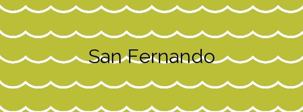 Información de la Playa San Fernando en Oliva