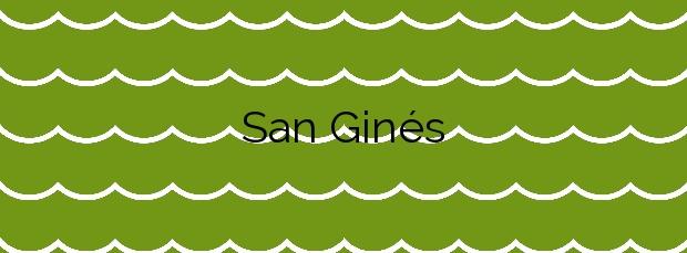 Información de la Playa San Ginés en Cartagena