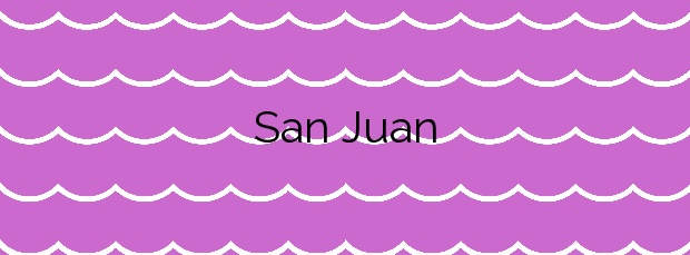 Información de la Playa San Juan en Alicante