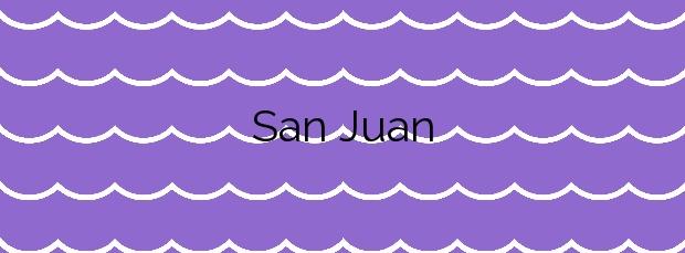 Información de la Playa San Juan en San Cristóbal de La Laguna