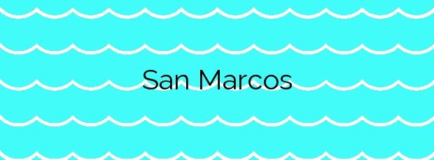Información de la Playa San Marcos en Icod de los Vinos