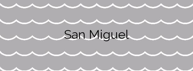 Información de la Playa San Miguel en Barreiros