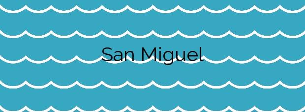 Información de la Playa San Miguel en Cartaya