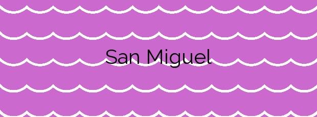 Información de la Playa San Miguel en El Ejido