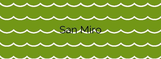 Información de la Playa San Miro en Malpica de Bergantiños