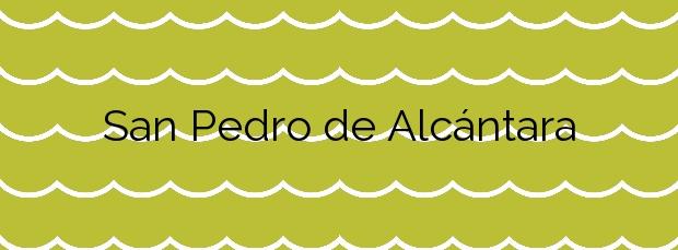 Información de la Playa San Pedro de Alcántara en Marbella