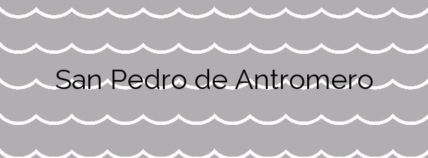 Información de la Playa San Pedro de Antromero en Gozón