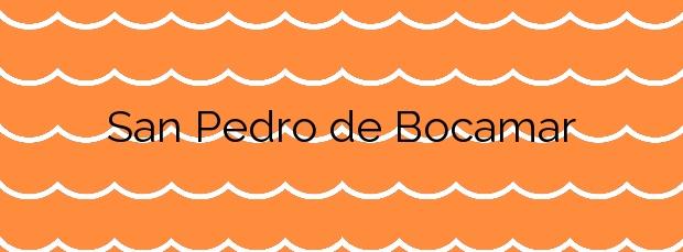 Información de la Playa San Pedro de Bocamar en Cudillero