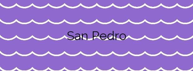 Información de la Playa San Pedro en Lorca