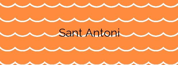 Información de la Playa Sant Antoni en Cullera