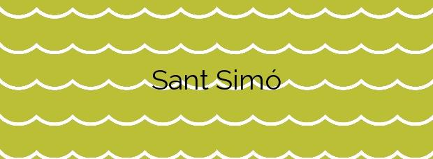 Información de la Playa Sant Simó en Mataró
