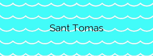 Información de la Playa Sant Tomas en Es Migjorn Gran
