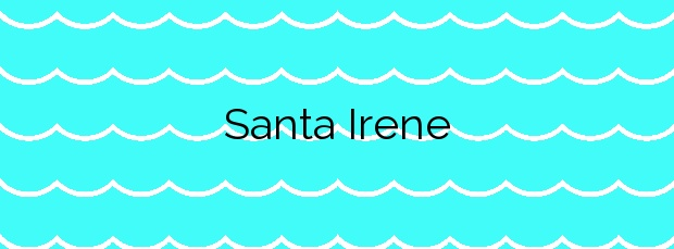 Información de la Playa Santa Irene en Arteixo