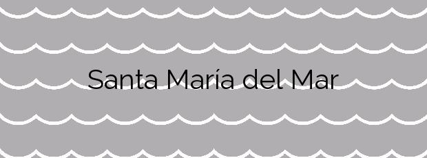 Información de la Playa Santa María del Mar en Castrillón