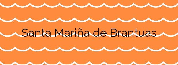 Información de la Playa Santa Mariña de Brantuas en Ponteceso
