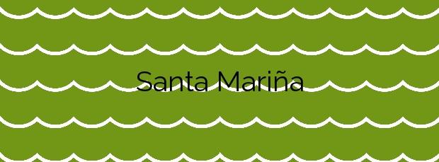 Información de la Playa Santa Mariña en Carballo