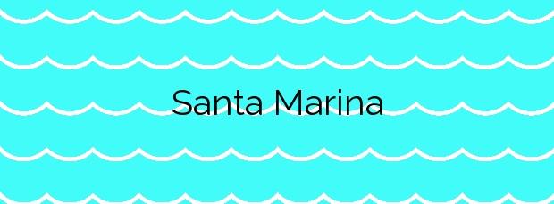 Información de la Playa Santa Marina en Ribadesella