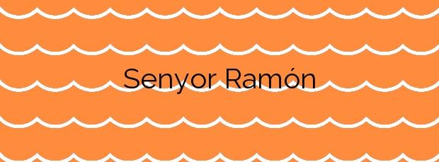 Información de la Playa Senyor Ramón en Santa Cristina d'Aro