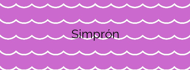 Información de la Playa Simprón en Carnota