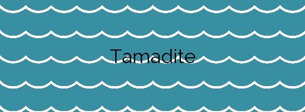 Información de la Playa Tamadite en Santa Cruz de Tenerife
