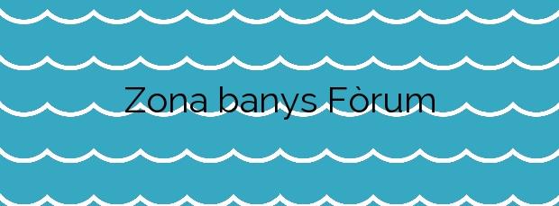 Información de la Playa Zona banys Fòrum en Barcelona