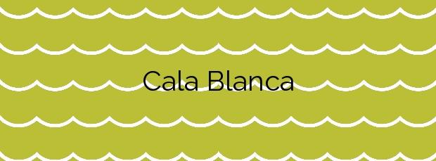 Información de la Cala Blanca en Lorca
