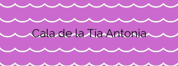 Información de la Cala de la Tía Antonia en Pulpí