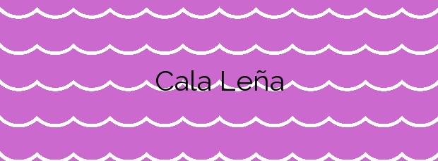 Información de la Cala Leña en Lorca