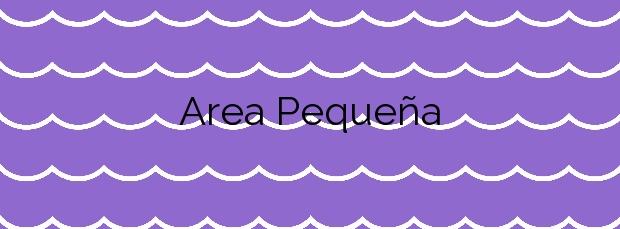 Información de la Playa Area Pequeña en Arteixo